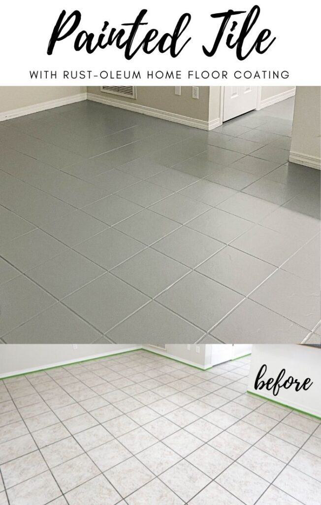 how to paint tile with RUST-OLEUM HOME floor coating