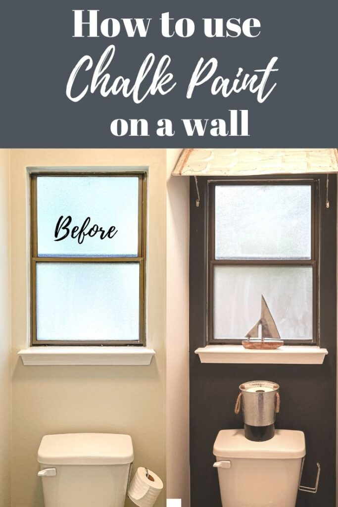 how to use chalk paint on a wall