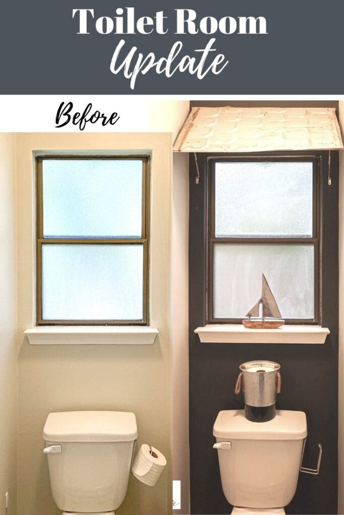 toilet room makeover for a budget bathroom feature wall