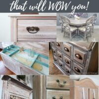 white washed furniture makeovers